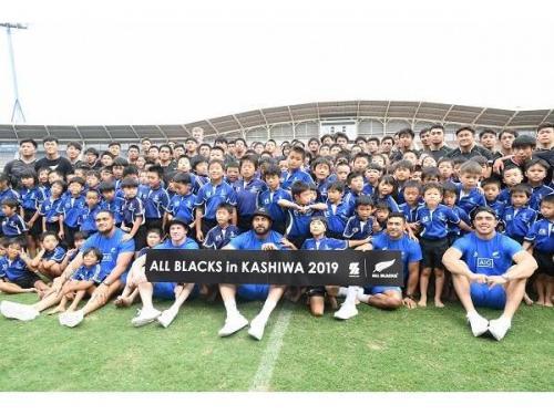 ラグビーニュージーランド代表「ALL BLACKS」交流イベント